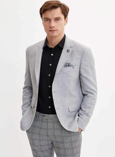 DeFacto Slim Fit Blazer Ceket Gri
